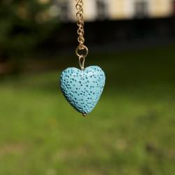 Lávové srdce - náhrdelník -...