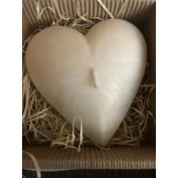 Svíčka otevřené srdce - bílá